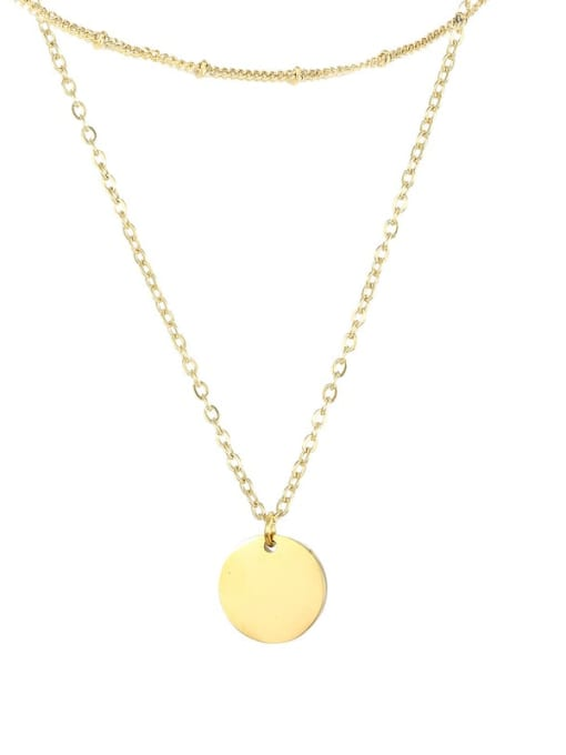 Desoto Stainless steel Locket Minimalist Multi Strand Necklace