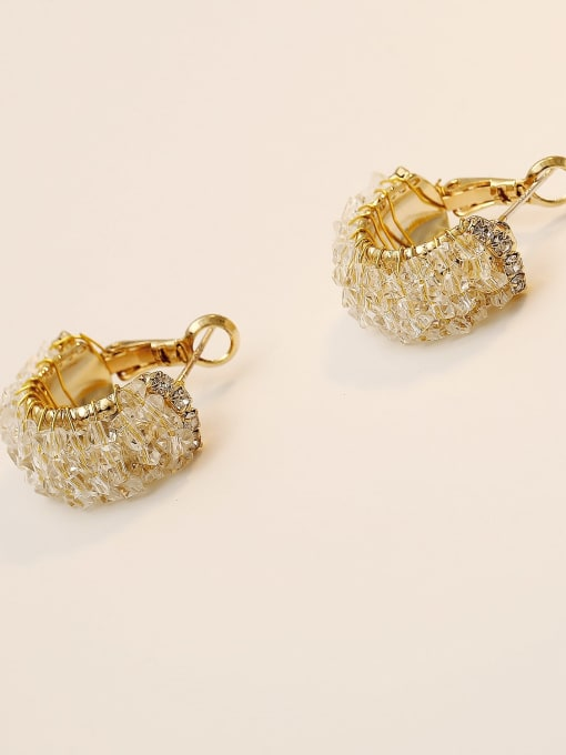 HYACINTH Brass Imitation Crystal Geometric Ethnic Stud Earring 3