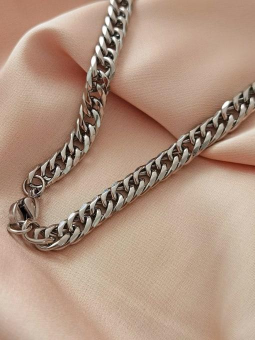 HYACINTH Titanium Steel  Hollow Geometric  Chain  Vintage Necklace 2