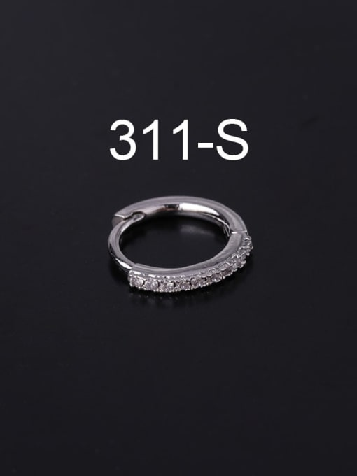 steel (Single ) Brass Cubic Zirconia Geometric Minimalist Single Earring