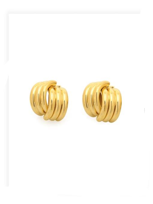 ACCA Brass Irregular Minimalist Stud Earring
