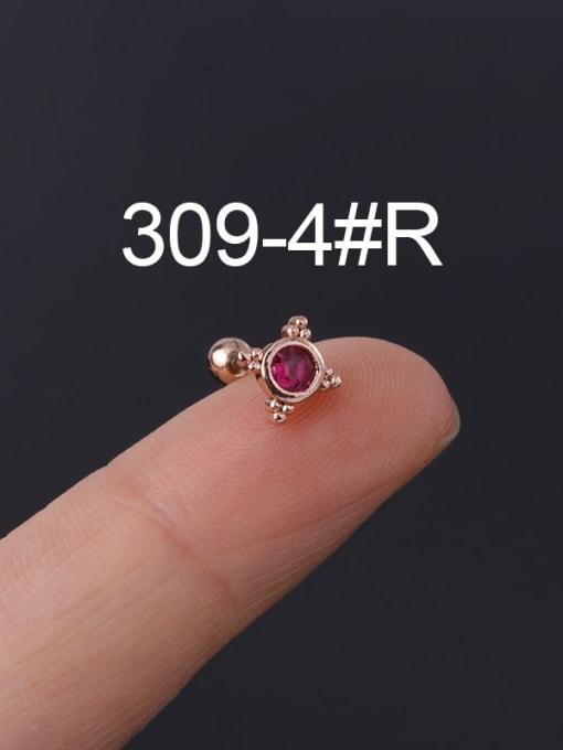 4 Rose Gold  Single Brass Cubic Zirconia Geometric Hip Hop Chandelier Earring