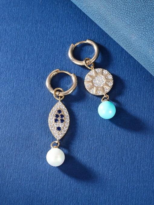 OUOU Brass Cubic Zirconia Friut Vintage Huggie Earring 4