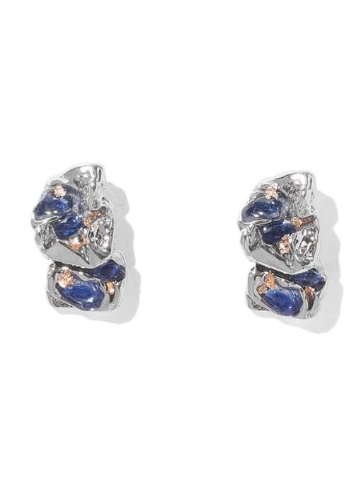 TINGS Brass Rhinestone Geometric Vintage Drop Earring 0
