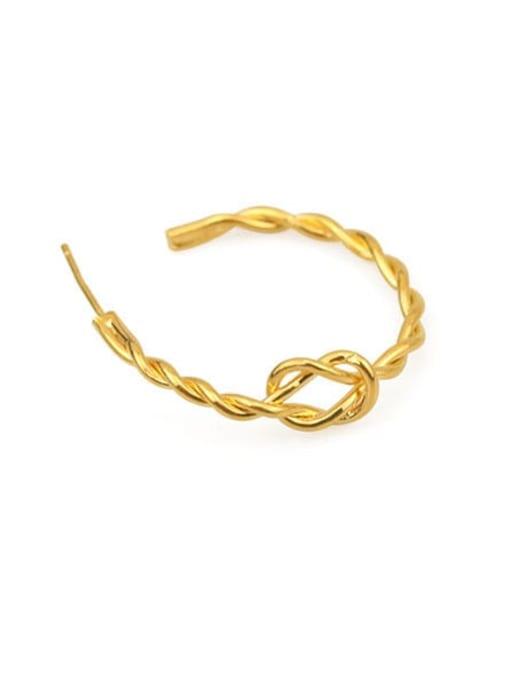 Item 3 Brass Cubic Zirconia Geometric Hip Hop Stud Earring