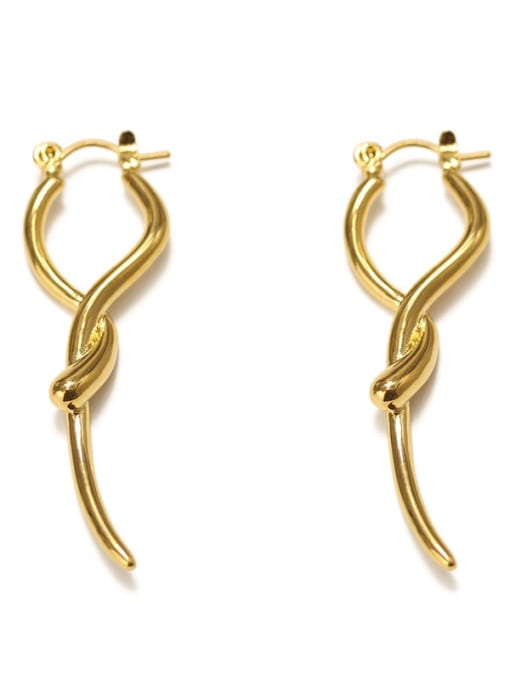 ACCA Brass smooth Geometric Vintage Drop Earring 4
