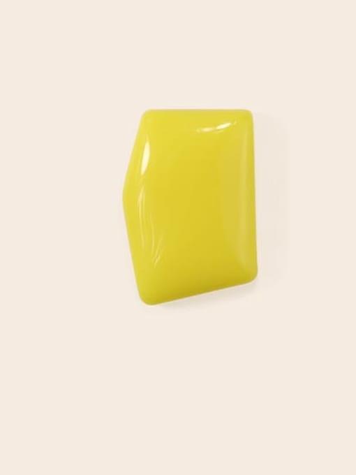 Yellow Earrings Alloy Enamel Geometric Cute Stud Earring