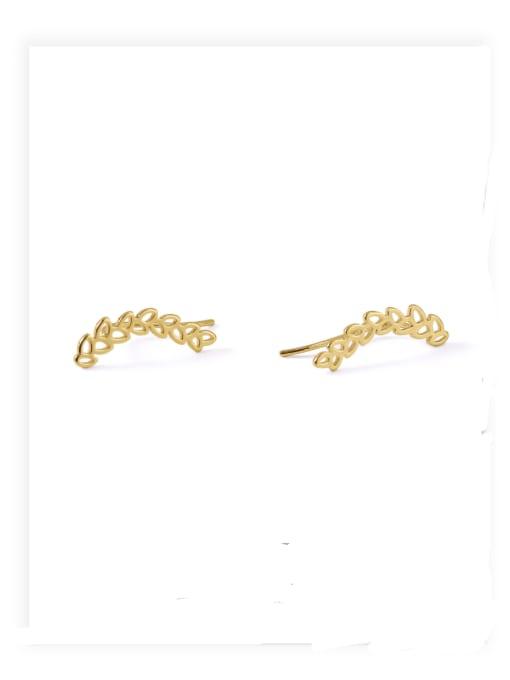 Section 6 Brass Ball Hip Hop Stud Earring