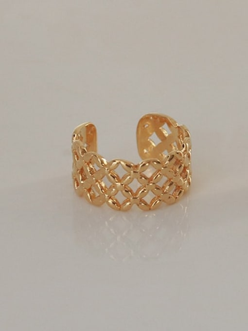 ACCA Brass Hollow Geometric Vintage Band Ring 1