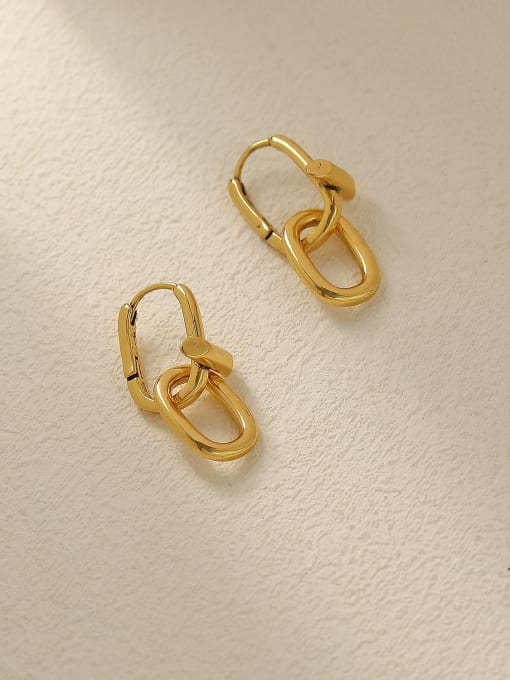 HYACINTH Brass Hollow Geometric Vintage Drop Trend Korean Fashion Earring