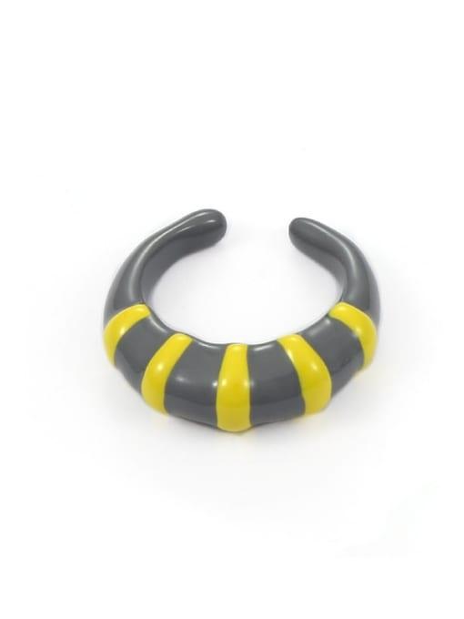Paragraph 1 (No. 6 and No. 7) Zinc Alloy Enamel Heart Minimalist Band Ring