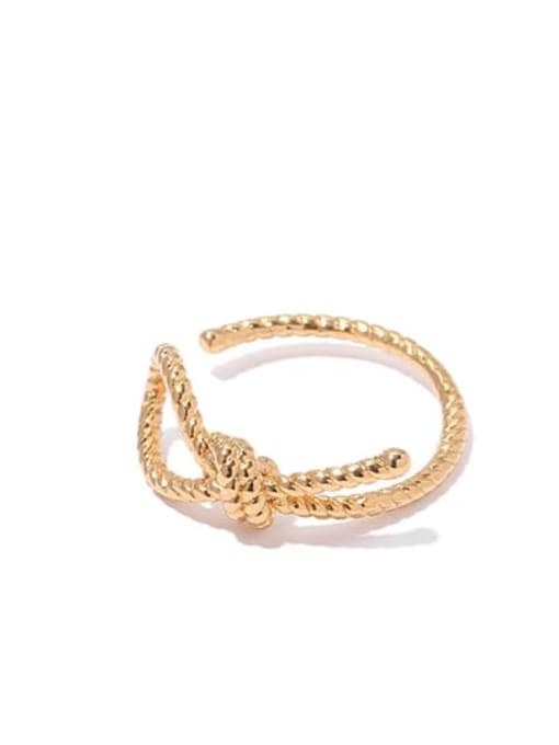 4 Brass Geometric Vintage Band Ring
