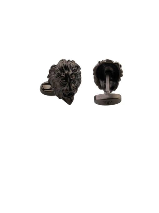 ThreeLink Brass  Vintage Lion Cuff Link 2