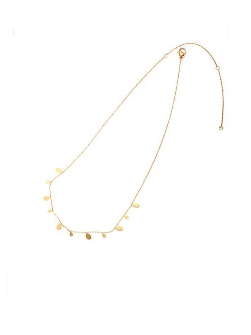 golden Brass Water Drop Vintage Necklace
