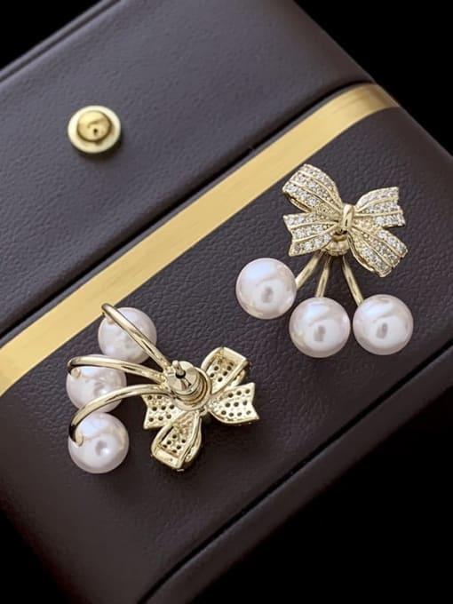 SUUTO Brass Cubic Zirconia Flower Hip Hop Stud Earring 1