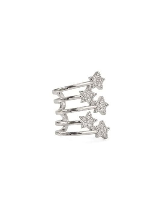 ACCA Brass Cubic Zirconia Star Vintage Clip Earring For Sale Only, single
