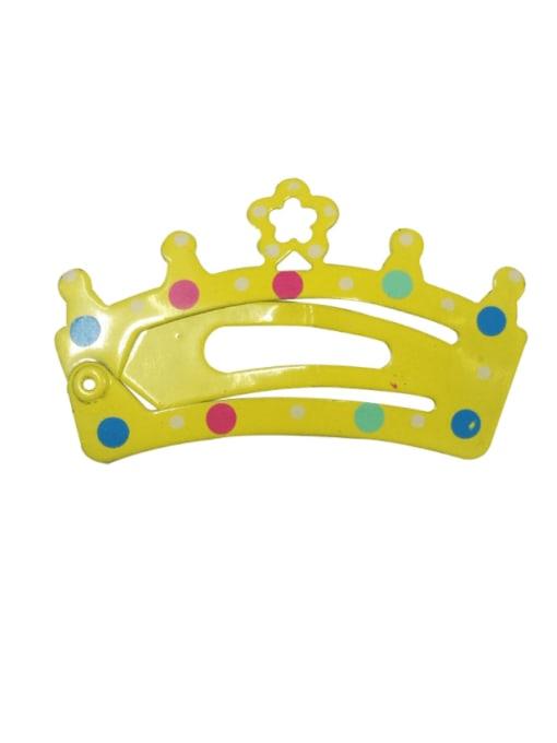 5904 Alloy Multi Color  Enamel Cute Crown Hair Barrette