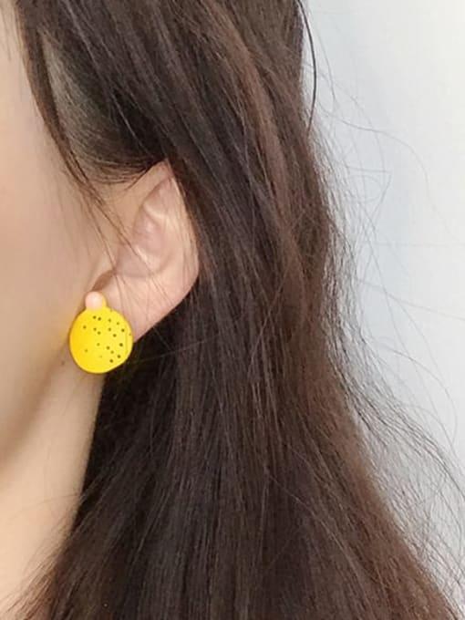 Five Color Alloy Enamel Geometric Minimalist Stud Earring 1