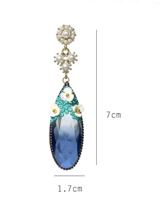 SUUTO Brass Cubic Zirconia Water Drop Minimalist Drop Earring 3