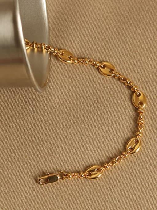 ACCA Brass Geometric chain Vintage Link Bracelet 2