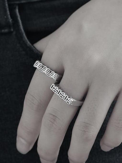 TINGS Brass Message Minimalist Band Ring 1