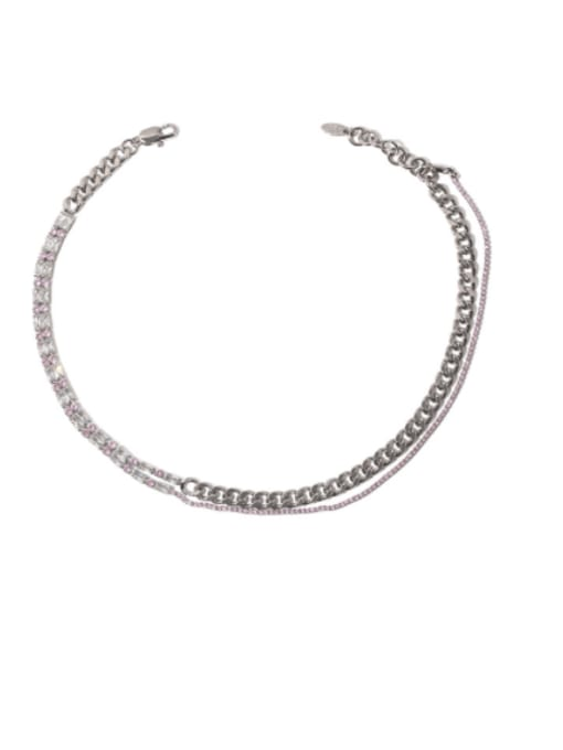 TINGS Brass Cubic Zirconia Geometric Vintage Necklace 0