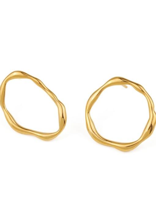 ACCA Brass  Hollow Geometric Vintage Hoop Earring 3