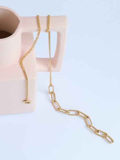 Five Color Brass Geometric Hip Hop Necklace 2