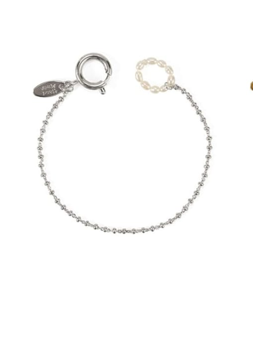 ACCA Brass Bead Geometric Vintage Beaded Bracelet 4