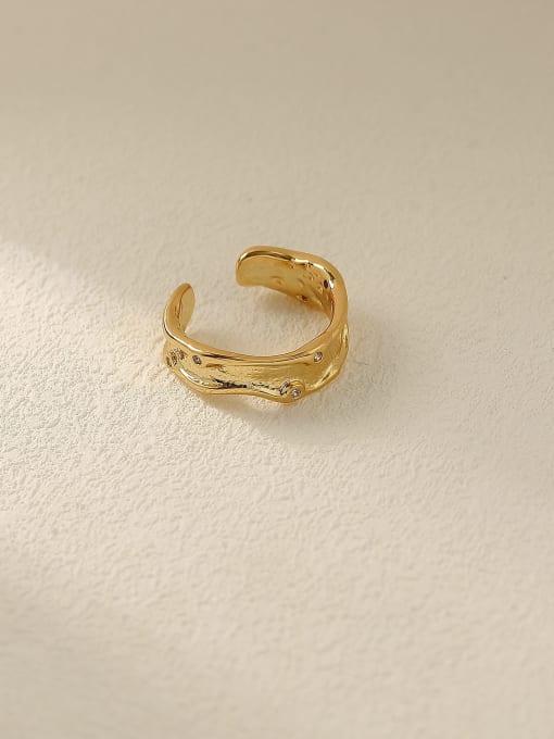 18K gold Brass Geometric Minimalist Band Ring