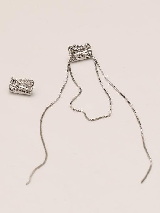 white K Brass Tassel Vintage Drop Earring