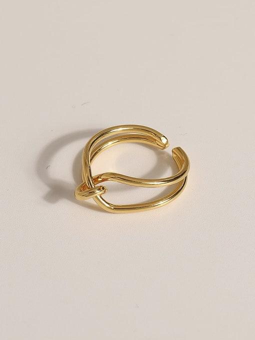 JZ109 Brass Geometric Vintage Band Ring