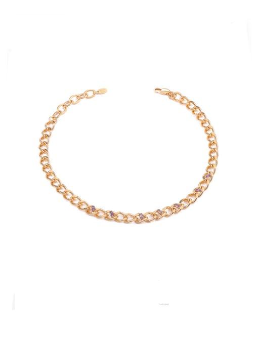 golden Brass Hollow Geometric Chain Hip Hop Necklace