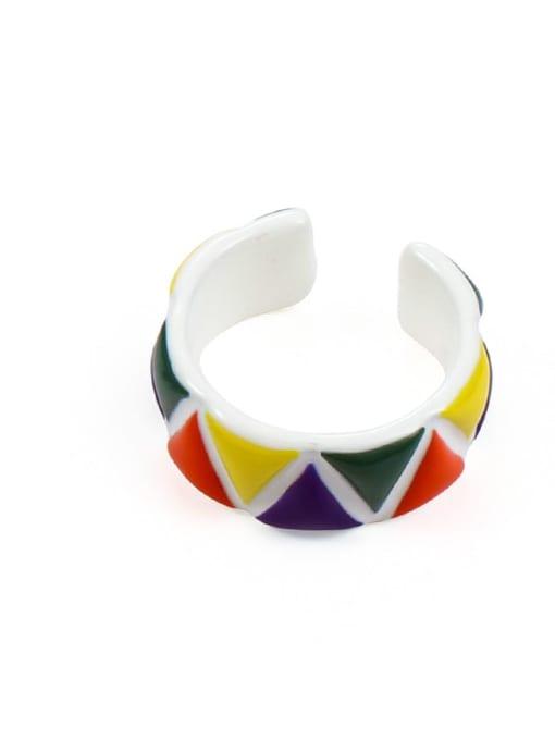 Model 6 (size 6 and 7) Zinc Alloy Enamel Irregular Minimalist Band Ring