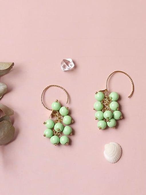 Five Color Alloy Bead Enamel Friut Bohemia Hook Earring 3