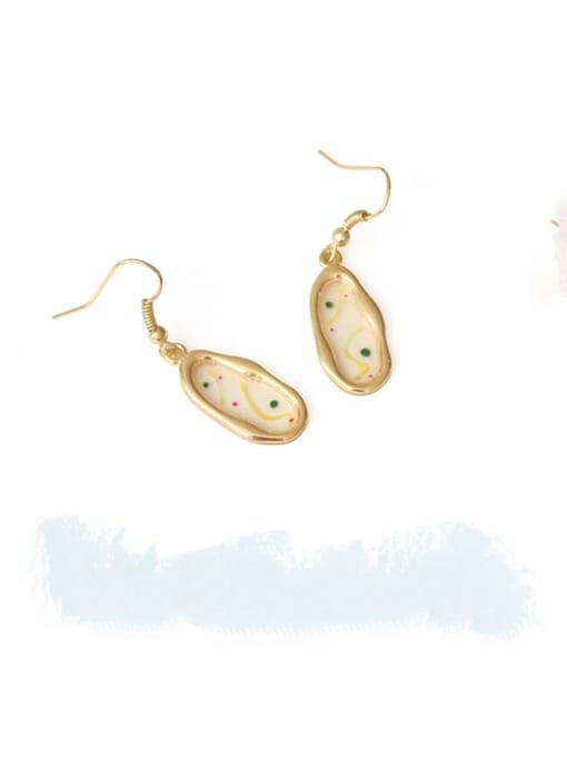 Five Color Alloy Enamel Geometric Ethnic Hook Earring 2