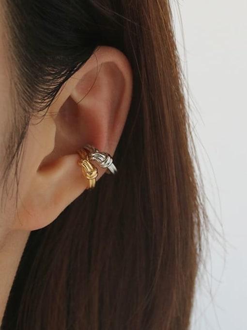 TINGS Brass Line knot Vintage Single Earring 1