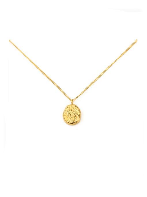 ACCA Titanium Geometric concave Vintage pendant Necklace 3