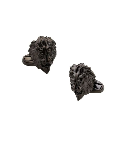 ThreeLink Brass  Vintage Lion Cuff Link