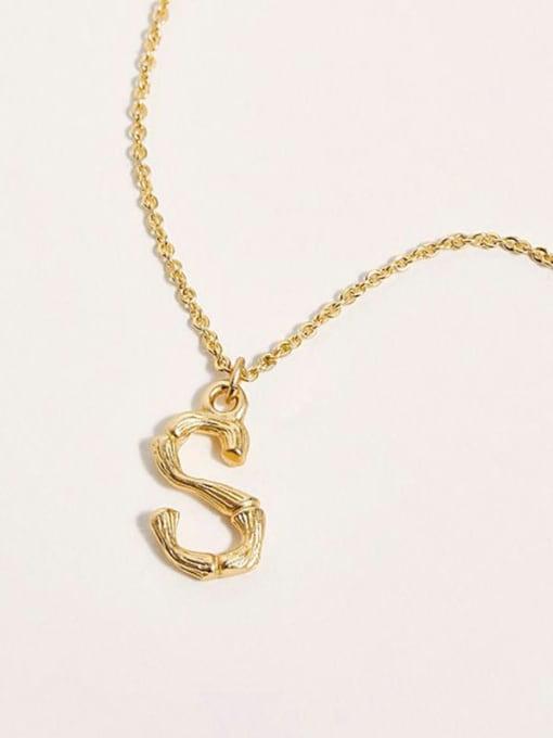 Desoto Titanium Steel Letter Minimalist Necklace 4