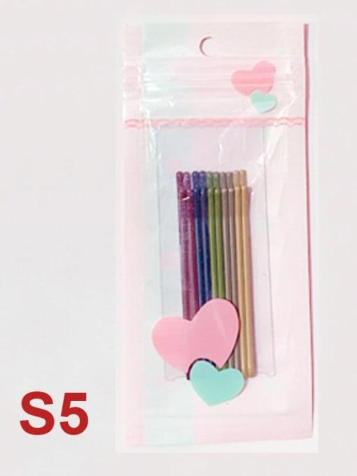 C5 Alloy Multi Color Enamel Cute Geometric  Hair Pin