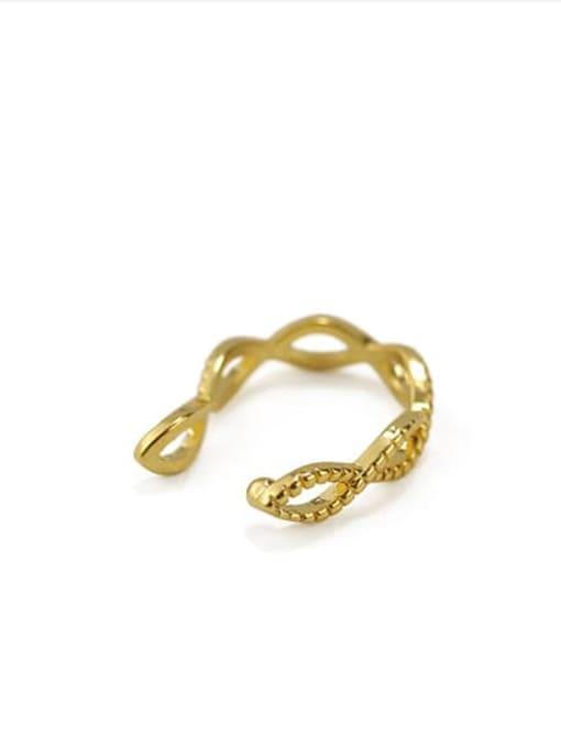 ACCA Brass Hollow Geometric Minimalist Clip Earring (Single)