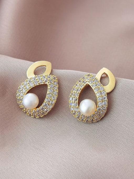 HYACINTH Brass Cubic Zirconia Water Drop Vintage Drop Earring 2