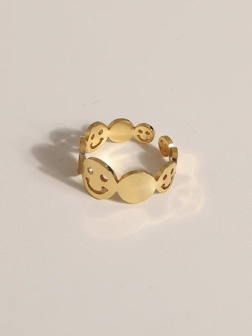 JZ110 Brass Geometric Vintage Band Ring