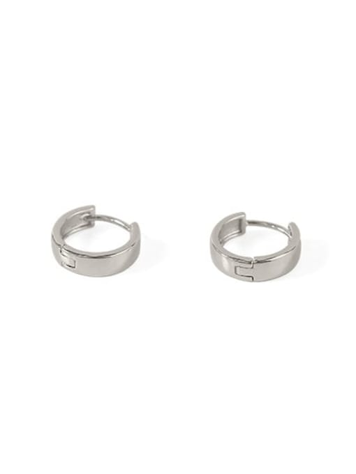 ring Brass Smooth Geometric Minimalist Huggie Earring