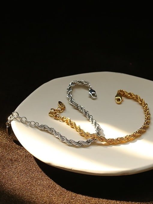 ACCA Brass Vintage  Hollow chain Bracelet 0