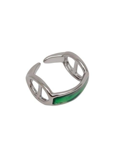 HYACINTH Alloy Enamel Geometric Minimalist Band Ring 4