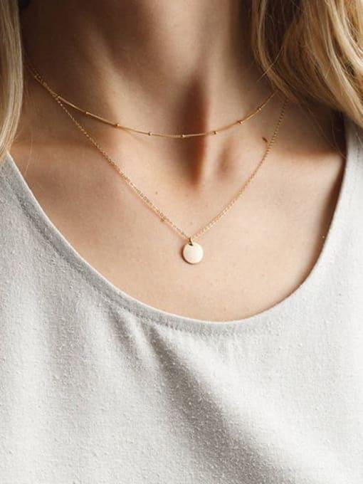 Desoto Stainless steel Locket Minimalist Multi Strand Necklace 1