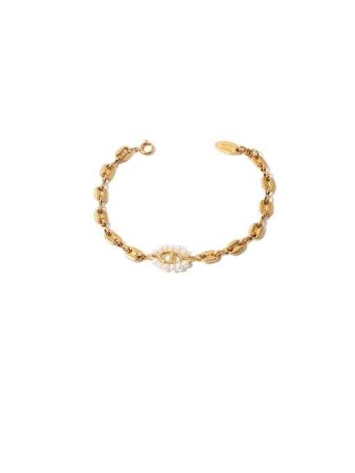 Pig nose Bracelet Brass Imitation Pearl Geometric Hip Hop Necklace