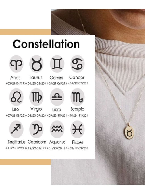 Desoto Stainless steel Constellation Minimalist Geometric  Pendnat Necklace 0